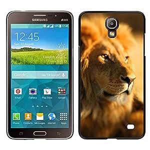 EJOY---Cubierta de la caja de protección para la piel dura ** Samsung Galaxy Mega 2 ** --Paquete León África sabana selva Líder