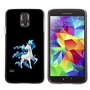 TopCaseStore / la caja del caucho duro de la cubierta de protección de la piel - Cool Funny Cute Horse Unicorn Fancy - Samsung Galaxy S5 SM-G900