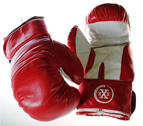 Boxing Gloves (Triple Threat Quick Strap Fitness Training Boxing Gloves (Red, Youth - 10oz))
