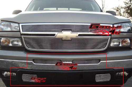 - APS Compatible with 03-06 Chevy Silverado 1500 2500 Bumper Billet Grille Combo N19-A44978C