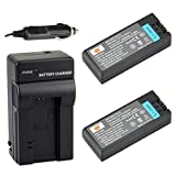 DSTE 2x NP-FC10 Battery + DC06 Travel and Car Charger Adapter for Sony DSC-F77 F77A FX77 P10 P12 P2 P3 P5 P7 P8 P9 V1 Camera as NP-FC11