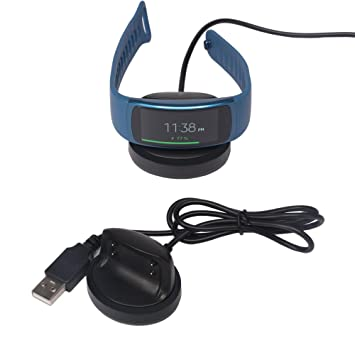 Nice Cool® Gear Fit 2 Cargador, Repuestos USB Charge Cable de carga Cable de carga alambre USB Charging Clip Charger for Samsung Gear FIT2 SM de R360 ...