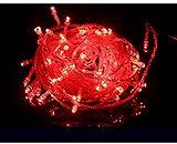 Red, 110V US : led Christmas lights garland Lights 100 LED 10M Christmas lights outdoor christmas ornaments AC 110V 220V cotton ball light Deco