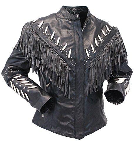 Studded Fringe Jacket - 6