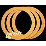 """3 Pack, 18"""" , Biodegradable Floral Craft Ring, Ez Glueable Wreath Form, for Photo Frame, Other Arts , Props and Crafts Projects"""