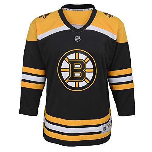 NHL Boston Bruins Youth Boys Replica Home-Team Jersey, Small/Medium, Black -