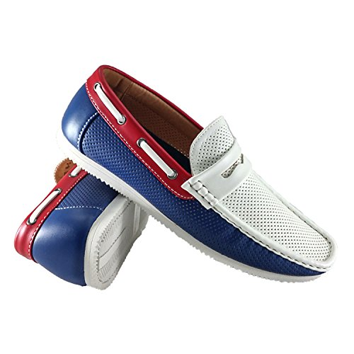 reverse Boat Slip Navy Shoes Blue Comfort On Breathable Men's gqga1A