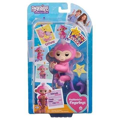 FingerLings Fashionista Baby Monkey Tiffany Figure Toy - Multi: Toys & Games