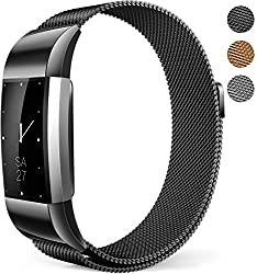 Fitbit Charge 2 Bands Milanese Mesh Loop Wristband Magnetic Closure