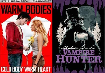 Zombies + Honest Abe + Vampires = MOVIE NIGHT DVD Bundle - Warm Bodies & Abraham Lincoln Vampire Hunter (Exclusive Pop Art Slipcover) 2-DVD Collection