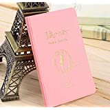 Simple Travel ID&Document Holder Utility Pu Leather Passport Cover 6 Colors 2016 Worldwide Sale-Pink Journey