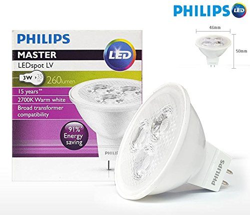 Led Mr16 Electronic Transformer Compatibility: Philips 3W MR16 Essential LED 2700K Warm White Lamp Spot