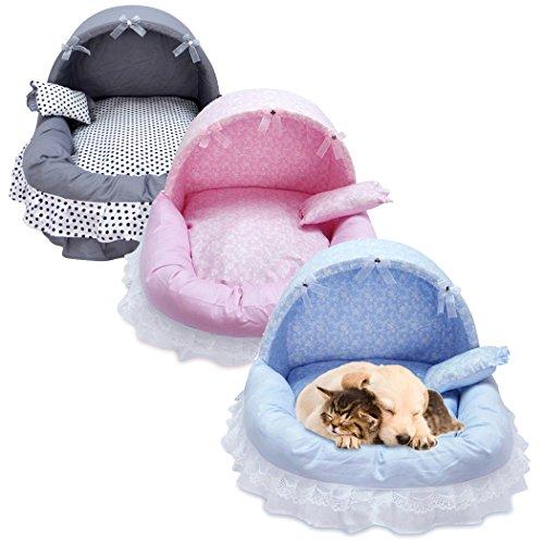 Amazon.com : Legendog Dog Sofa, Dog Cushion Bed Decorative Lace Bow Detachable Washable Dog Sleeping Bed Pet Bed with Pillow M : Pet Supplies