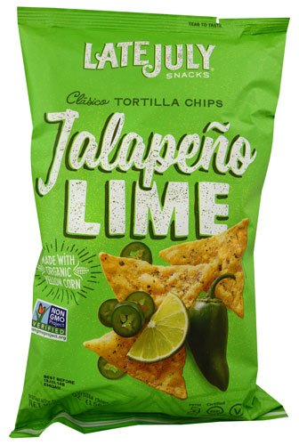 LATE JULY | Tortilla Chips | Organic and Gluten Free | Clasico, Jalepeno Lime Value 10 Pack (5.5 oz Each) by Late July