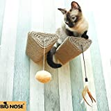 Bignose - Cat Scratching Post with Leaser Feather and Fluffly Ball Wall Mount Shelves and Steps