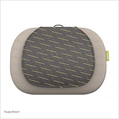 COZZIA 3D Kneading Massage Pillow, Taupe Brown, 14.52 Pound