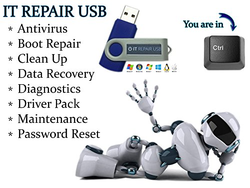 Computer IT Repair - Windows Antivirus Hard Drive Data File Recovery Password Reset Tools Utilities Drivers Live Bootable Boot USB Flash Thumb Drive