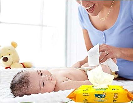 Baby WIPES Ricitos de Oro Grisi 80 Count Chamomile - Hypoallergenic Alcohol Free: Amazon.es: Bebé