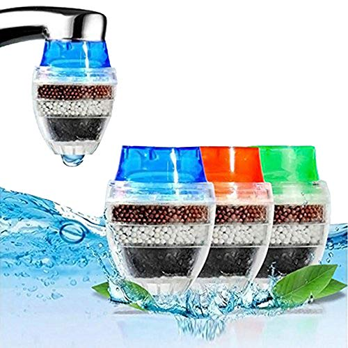 Faucet Water Filter Coconut Carbon Home Kitchen Faucet Tap Water Clean Purifier Filter Cartridge 16-19MM (Random Color) Pack of 2 (Pur Faucet Ultimate Mount)