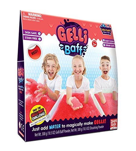Zimpli Kids Gelli Baff-2 Use Bath Gel Toy, Red, 600g by Zimpli Kids