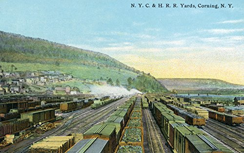 Corning, New York - New York Central and Hudson River Railroad Yards (16x24 Collectible Giclee Gallery Print, Wall Decor Travel Poster) Collectible New York Central Railroad