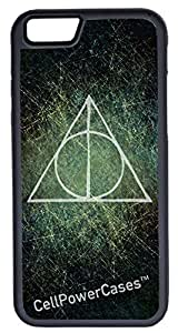 iPhone 5C Case, CellPowerCasesTM Harry Potter Deathly Hallows [Flex Series] -iPhone 5C Black Case [iPhone 5C V1 Black]