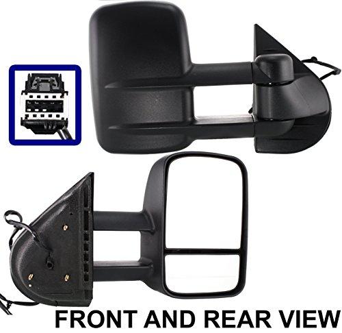 Telescoping Trailer Tow Mirror (Chevy Silverado Sierra 07-13 Trailer Tow Wide Power Heated Telescoping Mirror Rh)