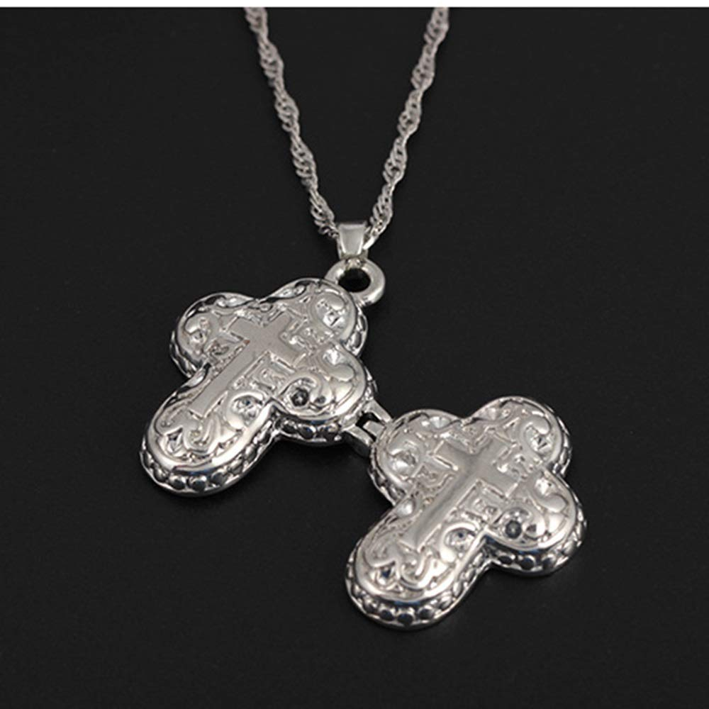 Personalized Pet Urn Box Pendant Peanut Cross Necklace Jewelry