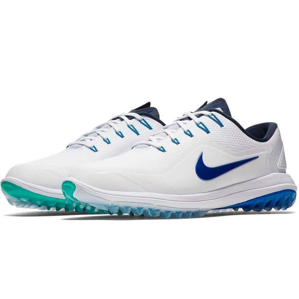 half off 4c2ab 15a65 Amazon.com   Nike Men s Lunar Control Vapor 2 Golf Shoes Cleats White Blue  Size 11.5   Golf