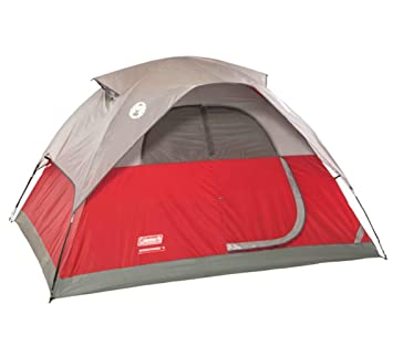 COLEMAN Flatwoods WeatherTec 4 Person Family C&ing Tent w/ Rainfly | 9u0027 ...  sc 1 st  Amazon.com & Amazon.com : COLEMAN Flatwoods WeatherTec 4 Person Family Camping ...