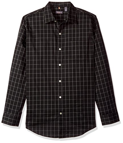 Van+Heusen+Men%27s+Traveler+Stretch+Non+Iron+Long+Sleeve+Shirt%2C+Classic+Black%2C+X-Large