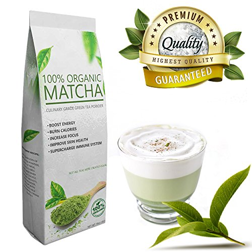 Everyday Matcha (16oz) - Culinary Grade Green Tea Powder - USDA Organic - Ideal for Starters - Great Quality at Low Cost
