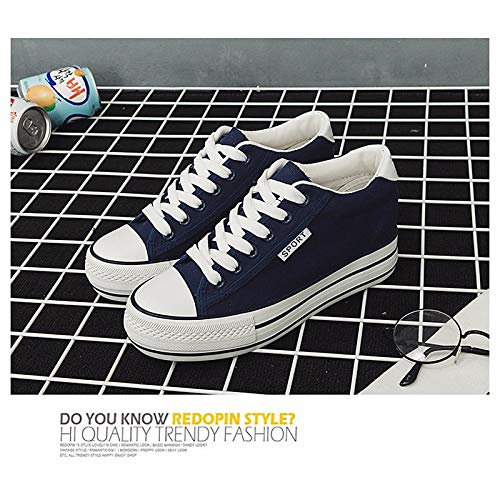 Mujer ZHZNVX Zapatos Comfort Black de Blue Creepers Fall Dark Sneakers Canvas White Red 1n6xHr1