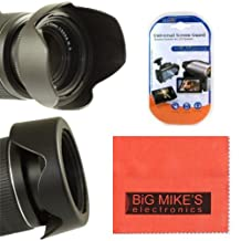 77mm Reversible Lens Hood For Nikon DF, D90, D3000, D3100, D3200, D3300, D5000, D5100, D5200, D5300, D7000, D7100, D300, D300s, D600, D610, D700, D800, D800e Digital SLR Cameras Which Has Any Of These Nikon Lenses (10-24MM, 16-35MM, 17-35MM, 18-300MM, 24-120MM, 24-70MM f/2.8, 24MM f/1.4, 28-300MM, 70-200MM f/2.8 VR II, 85MM f/1.4, 80-400MM, 60MM f/2.8D)