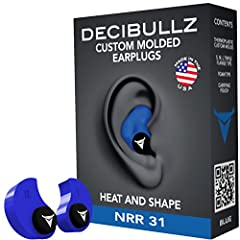 Decibullz Custom Molded Earplugs are easily and quickly fitted to the exact shape of your ear. This creates a perfect fitting earplug that will never hurt, never fall out and provide superior noise isolation. Simply heat the Decibullz thermop...