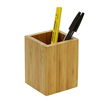 Desk Pen Pencil Holder Cup Stand, Made of Bamboo