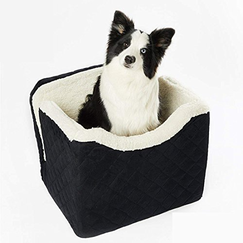 RUBEDER Car Travel Pet Seat/Booster Seat for Dogs & Cats (Medium, Black) by RUBEDER