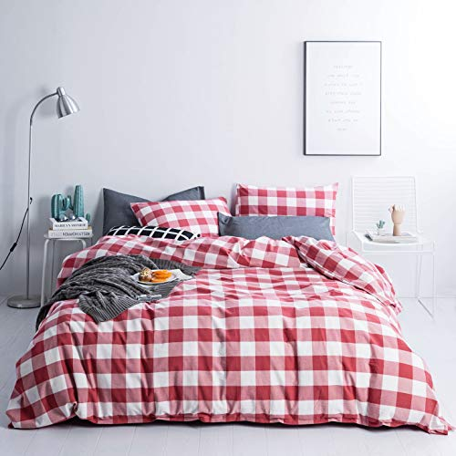 red and white comforter - 7