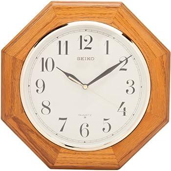 Amazon Com Ashton Sutton Round Quartz Analog Wall Clock