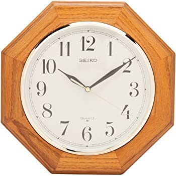 seiko wall clock price in pakistan clocks amazon medium brown solid oak case dual chime pendulum