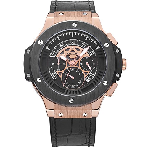6ec3c97c3 Carrie Hughes Men's Automatic Mechanical Watch LeatherCarrie Hughes Men's  Steampunk Skeleton Automatic Mechanical Watch Gifts (