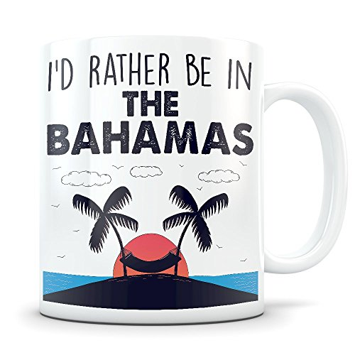 The Bahamas Souvenir - Beach Vacation Themed Gift for Women and Men Who Travel - I Love Bahamas Coffee Mug for Snowbirds, Travelers, or Expats
