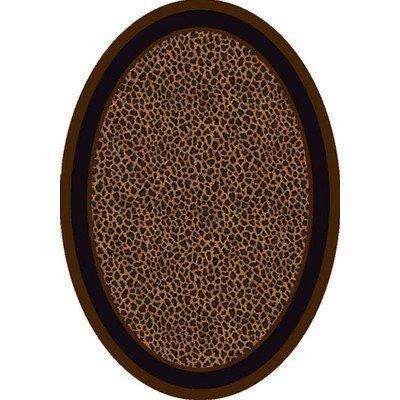 Milliken Innovation Zimbala Leopard Print Rug Oval 3'10