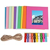 Laz Tipa Photo Frame Hot Sell Gift DIY Wall Hanging Paper 10 colors Photo Frame Wall Picture Album Wholesale (6inch)
