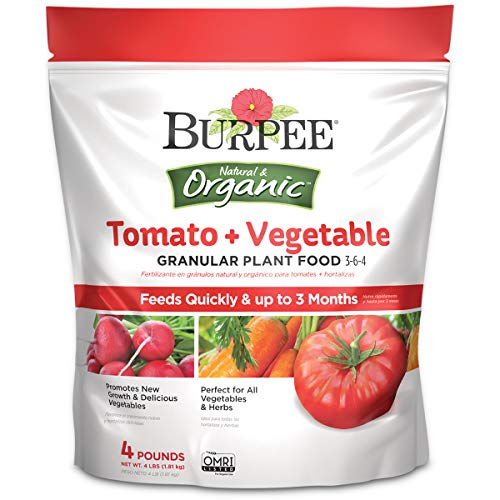 Burpee Organic Tomato and Vegetable Granular Plant Food, 4 lbs, 4 lbs