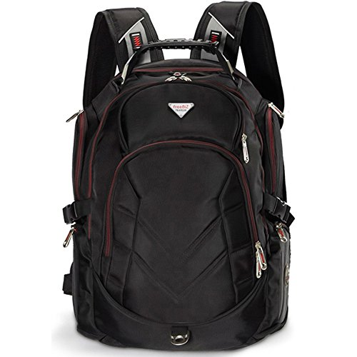 Laptop Backpack, 19 Inch FreeBiz Travel Bag Knapsack Rucksack Backpacks Hiking Bags Students School Shoulder Backpack Fits up to 19.5 Inch Dell, Asus, Msi Gaming Laptops Macbook Computer (Black) by FreeBiz