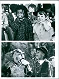 Vintage photo of Travis Tedford, Ross Bagley and Kevin Jamal Woods Two scenes from the film The Little Rascals. 1944