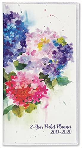 2019 2020 hydrangeas 2 year pocket planner 24 month calendar