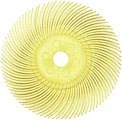 6-Piece Yellow 3M Micron Radial Rotary Disc Set 3//4 80 Grit Jewelry Polishing Metal Finishing Cleaning Tool
