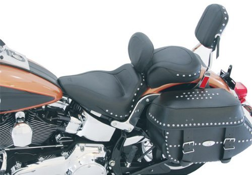 - Mustang Studded Sport Solo Motorcycle Seat with Backrest - Driver - Harley-Davidson Standard Rear Tire Softail Heritage Springer 2000-2005 & Deluxe 2005-2013 & Springer Classic 2006-2007 & Heritage Classic 2007-2013 - 79489